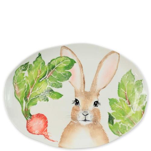 Vietri Spring Vegetables Medium Oval Platter