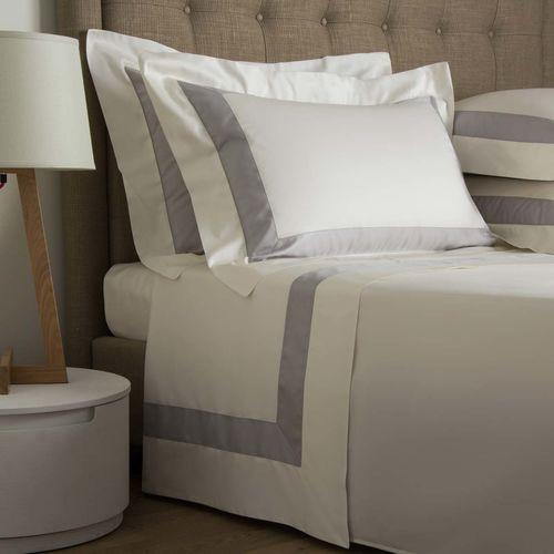Frette Bicolore Sheet Set - White/Grey