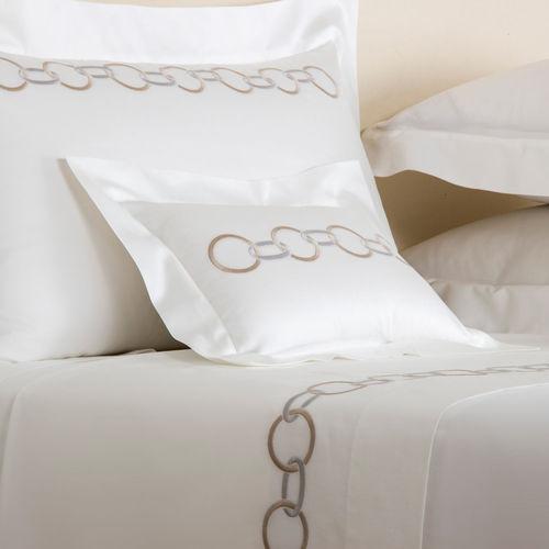 Frette Links Decorative Boudoir Pillow - Beige/Grey