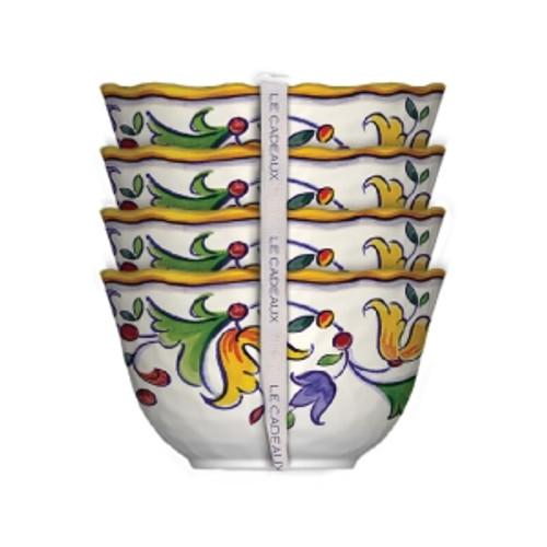 Le Cadeaux Capri Dessert Bowls - Set of 4