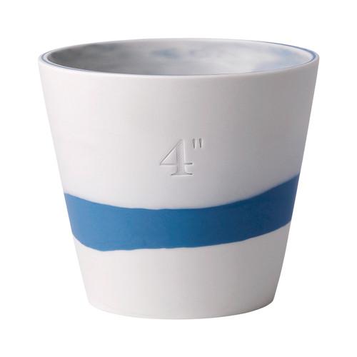 "Wedgwood Burlington Pot 4"" (Blue & White)"
