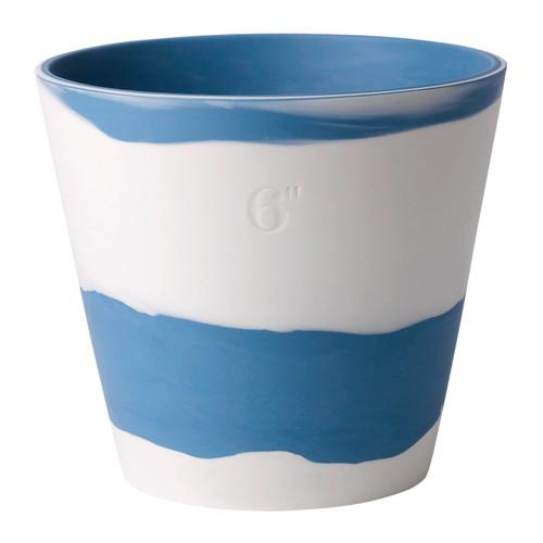 "Wedgwood Burlington Pot 6"" (Blue & White)"