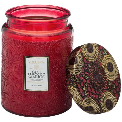 Voluspa Japonica Goji & Tarocco Orange Large Glass Jar Candle