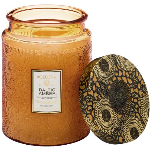 Voluspa Japonica Baltic Amber Large Glass Jar Candle