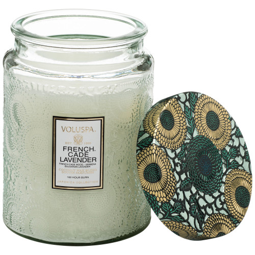 Voluspa Japonica French Cade & Lavender Large Glass Jar Candle