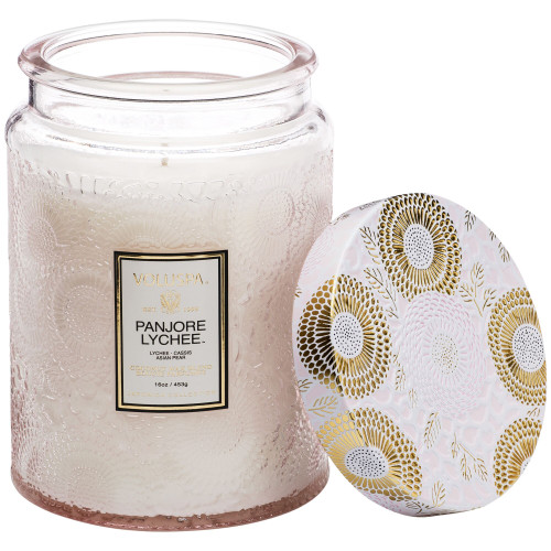 Voluspa Japonica Panjore Lychee Large Glass Jar Candle