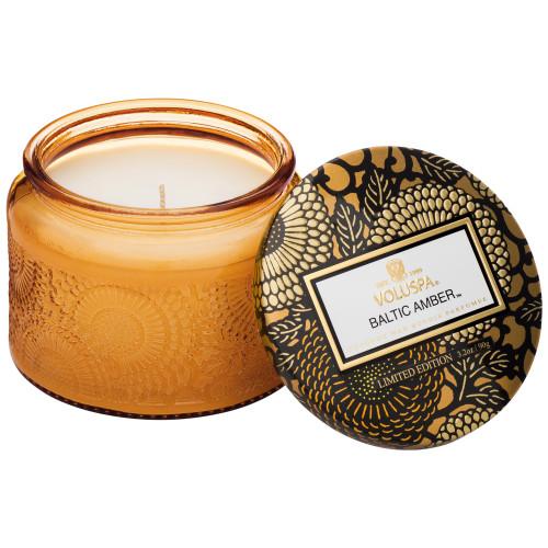 Voluspa Japonica Petite Candle in Colored Jar Baltic Amber
