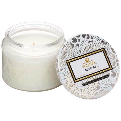 Voluspa Japonica Mokara Small Glass Jar Candle