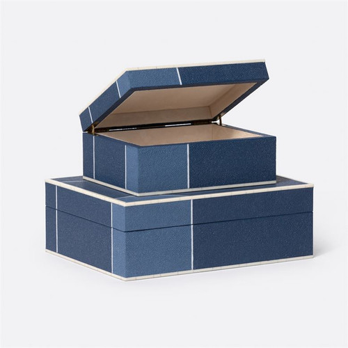 Made Goods Breck Box Set - Mixed Navy/Faux Shagreen
