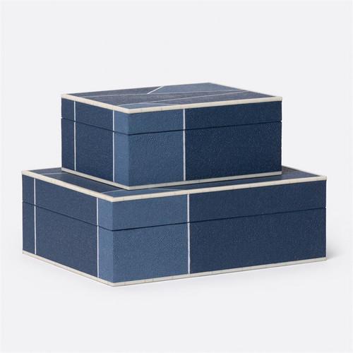 Made Goods Breck Box Set - Mixed Navy/Faux Shagreen