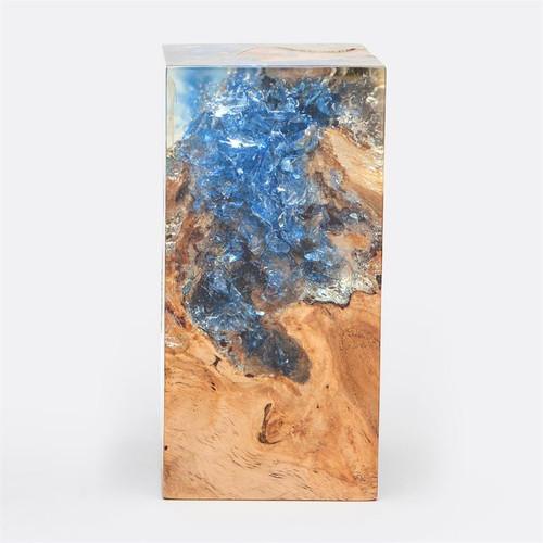 Made Goods Hazlett Object Bleached Teak/Blue Resin