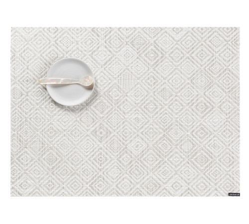 """Chilewich Mosaic Placemat - Grey - 14""""x19"""""""