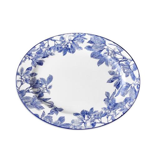 Caskata Arbor Blue Rimmed Oval Platter