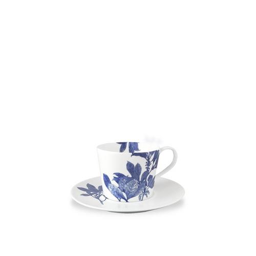 Caskata Arbor Blue Cup (Handled) & Saucer