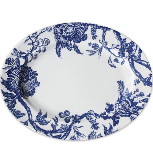 Caskata Arcadia Blue Rimmed Oval Platter