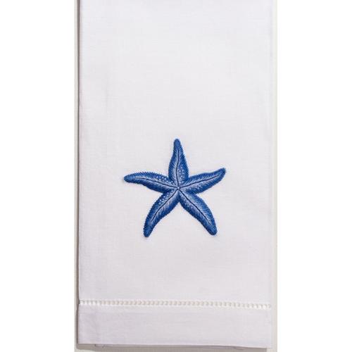 Henry Handwork Starfish Indigo Guest Towel