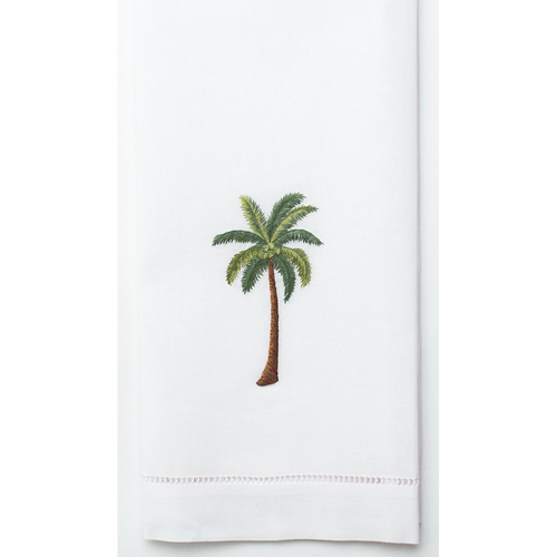 Henry Handwork Palm Tree Modern Cotton Guest Towel