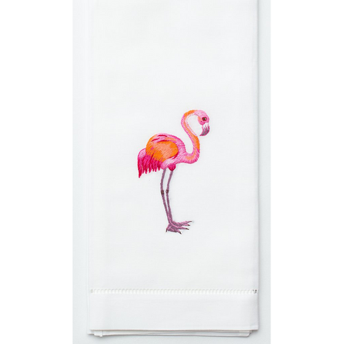 Henry Handwork Flamingo Cotton Guest Towel