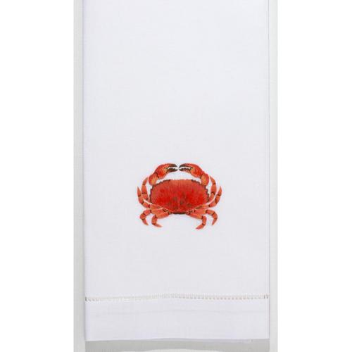 Henry Handwork Crab Modern Cotton Guest Towel