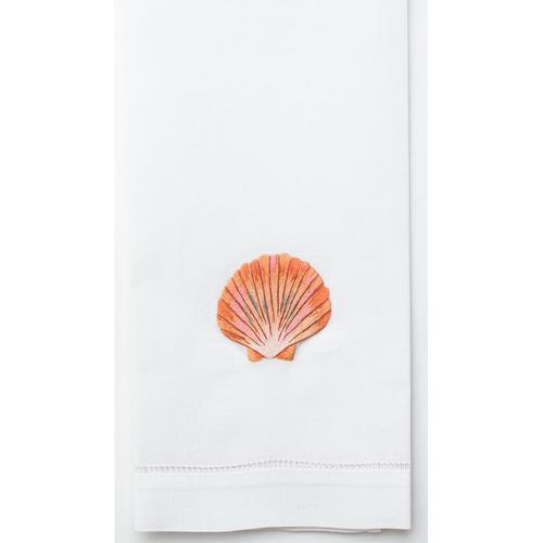 Henry Handwork Shell Blush Cotton Guest Towel