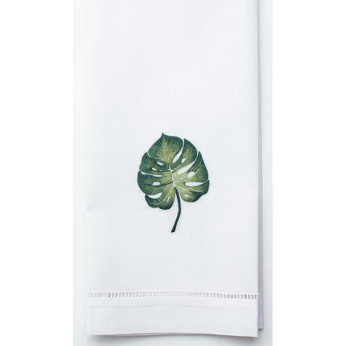 Henry Handwork Tropical Leaf Cotton Guest Towel