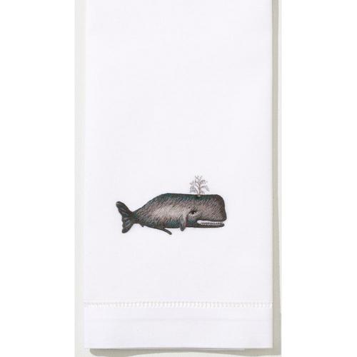 Henry Handwork Whale Cotton Guest Towel