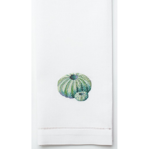 Henry Handwork Urchin Teal Cotton Guest Towel