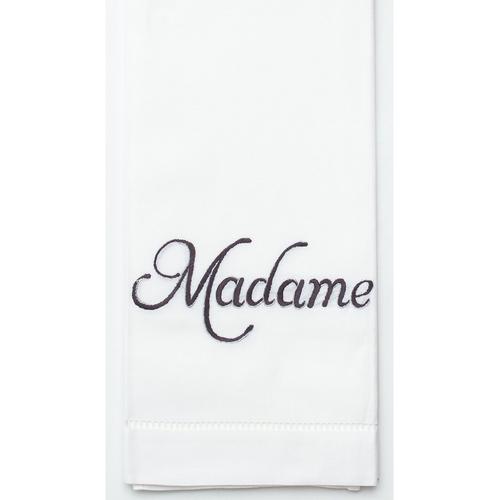 Henry Handwork Madame Silver Cotton Guest Towel