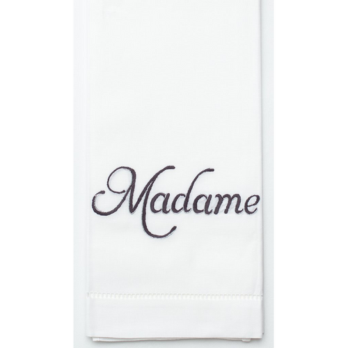 Henry Handwork Madame Silver Cotton Guest Towel