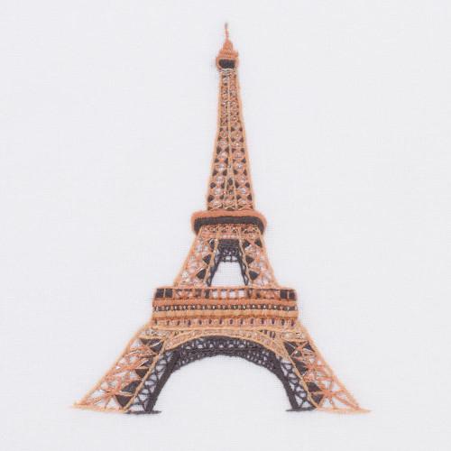 Henry Handwork Eiffel Tower Cotton Guest Towel