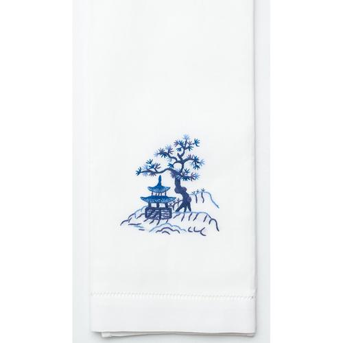 Henry Handwork Canton Blue Cotton Guest Towel