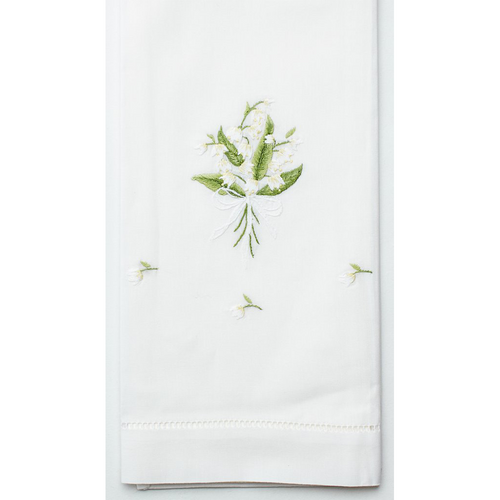Henry Handwork Lily of the Valley Cotton Guest Towel