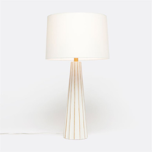 Made Goods Nova Table Lamp - White/Gold Concrete