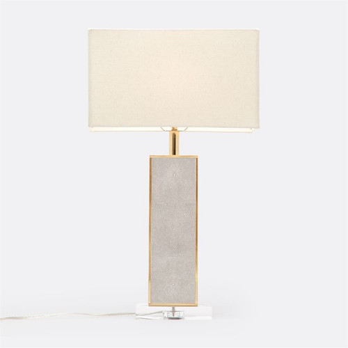 Made Goods Kingston Table Lamp - Sand Realistic Faux Shagreen