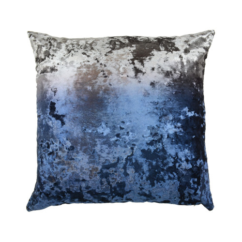 Aviva Stanoff Crushed Velvet Ombre Charcoal Twilight - 20x20