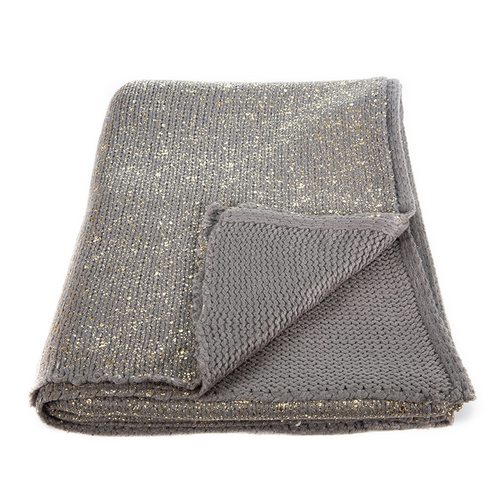 Aviva Stanoff Constellation Throw - Grey/Gold