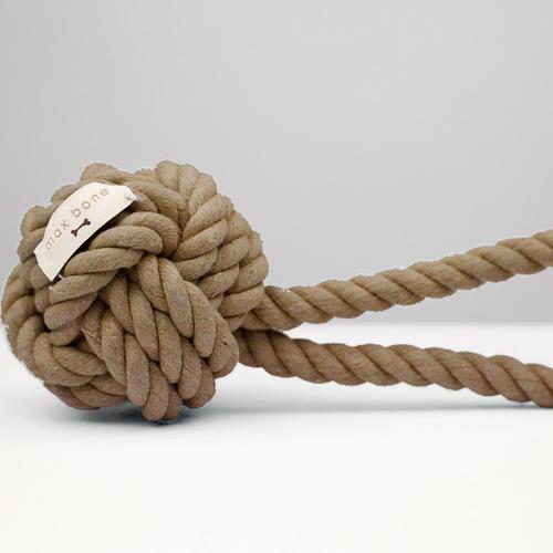 Max-Bone Mini Hobie Rope Toy - Taupe