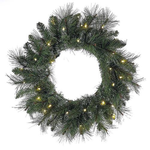 """Kurt Adler 24"""" Green Wreath with Lights"""