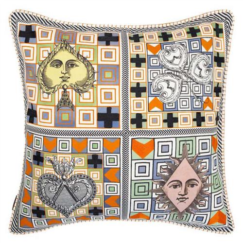 Designers Guild Christian Lacroix Poker Face Decorative Pillow