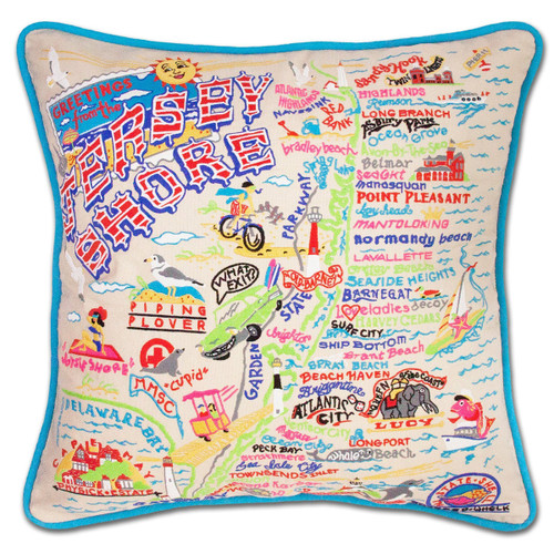 Catstudio Jersey Shore Embroidered Pillow