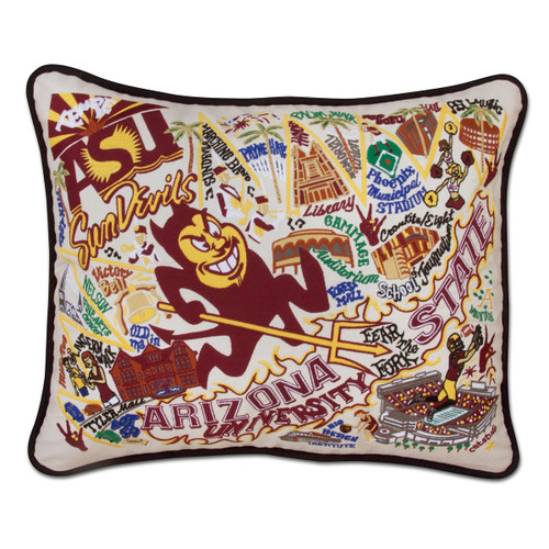 Catstudio Arizona State University Collegiate Embroidered Pillow