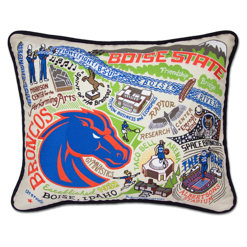 Catstudio Boise State University Collegiate Embroidered Pillow
