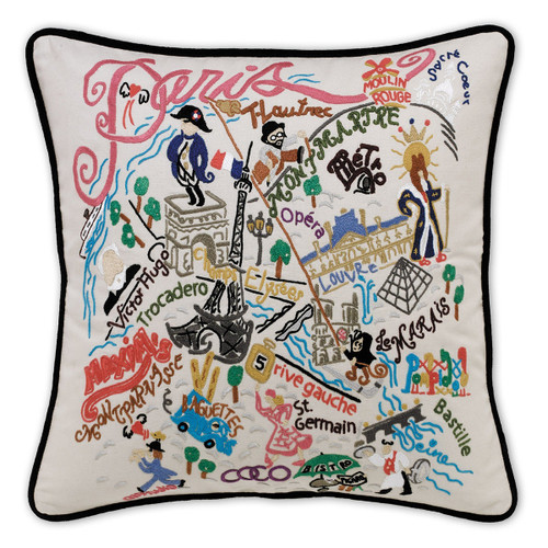Catstudio Paris Hand-Embroidered Pillow