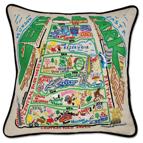 Catstudio Central Park Hand-Embroidered Pillow