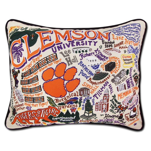 Catstudio Clemson University Collegiate Embroidered Pillow