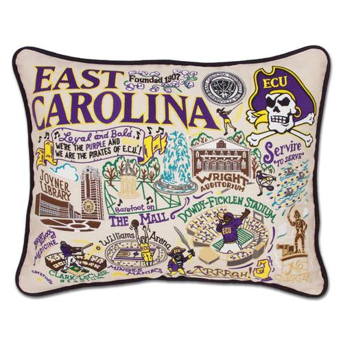 Catstudio East Carolina University Embroidered Pillow