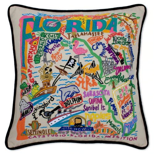 Catstudio Florida Hand-Embroidered Pillow
