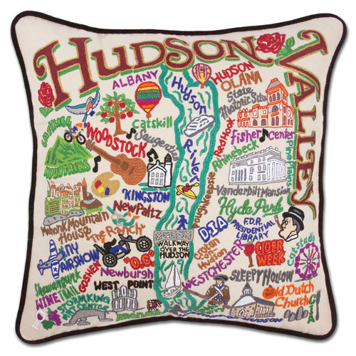 Catstudio Hudson Valley Hand-Embroidered Pillow