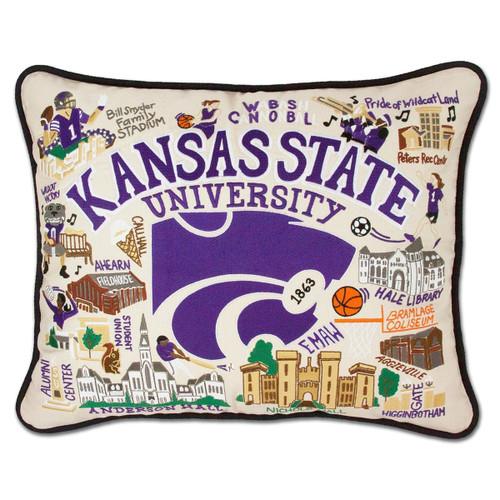 Catstudio Kansas State University Collegiate Embroidered Pillow