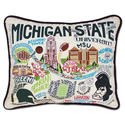Catstudio Michigan State University Collegiate Embroidered Pillow